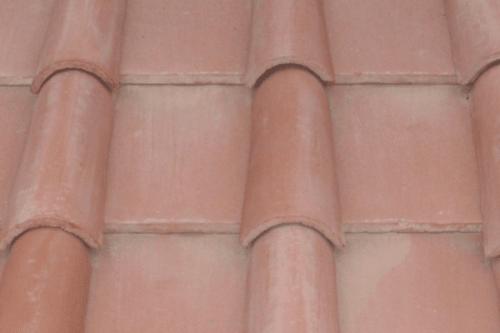 Tejas detalle tejado teja arabe roja
